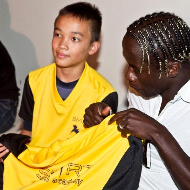Bacary Sagna's Visit to Smart Football Academy